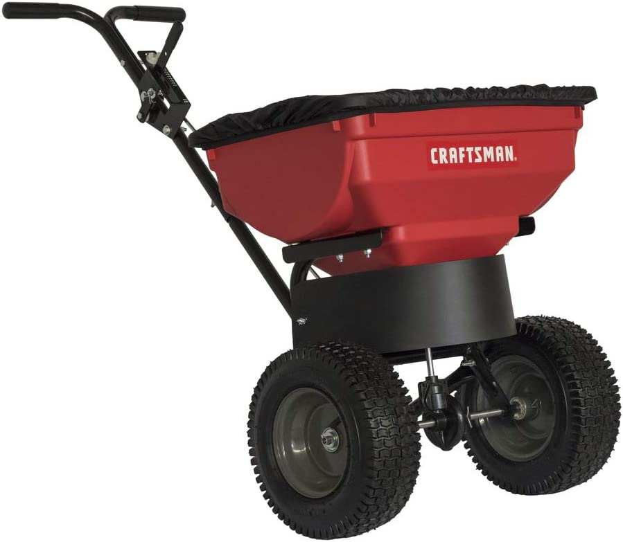Craftsman CMXGZBF450532DL 85 lb. Push Broadcast Spreader, Red/Black