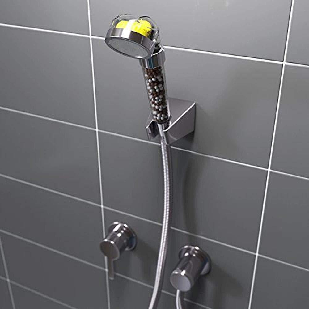Ionic cabezal de ducha filtro piedra Stream Vitamina C Power Spa ducha cabezales quitar cloro agua dura suavizante plateado y transparente