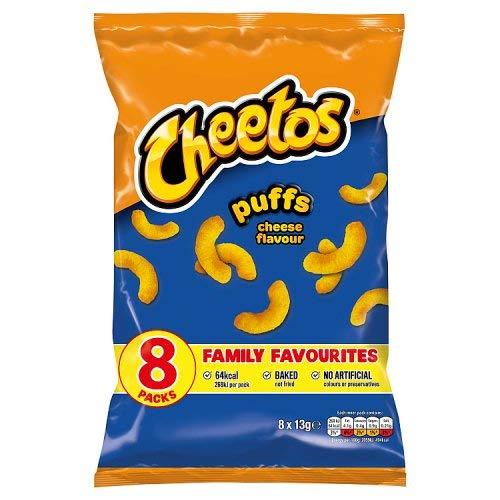 Cheetos Cheese Puffs 8 Pack 104g