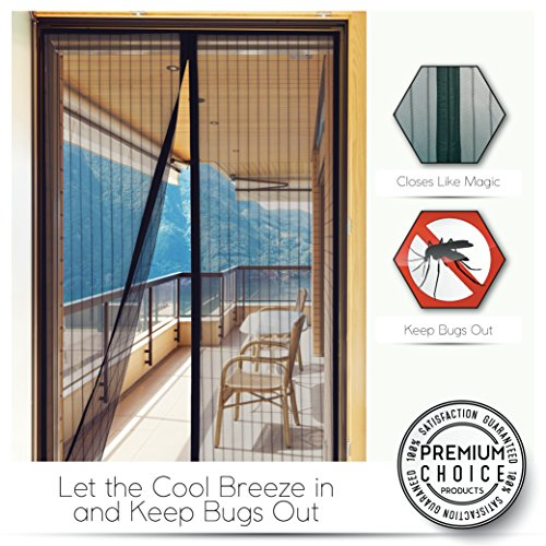 White Magnetic Screen Door - Keeps Bugs OUT, Lets Fresh Air In. No More Mosquitos or Flying Insects. Instant Bug Mesh with Top-to-Bottom Seal, Snaps Shut Like Magic for a Hands-Free Bug-Proof Curtain by Premium Choice Products (Image #7)