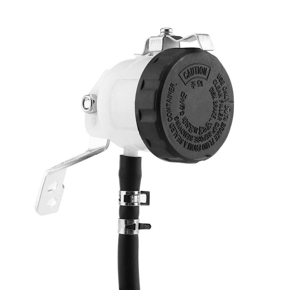 Moto Hydraulique Pompe de Frein Pompe Frein /à Huile Tasse Dhuile Pot Frein Maitre Cylindre R/éservoir Dhuile Bouteille de Fluide Avec Support