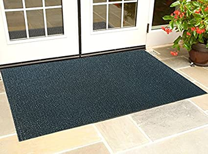 Kuber Industries PVC Thick Doormat - Black (Extra Large)