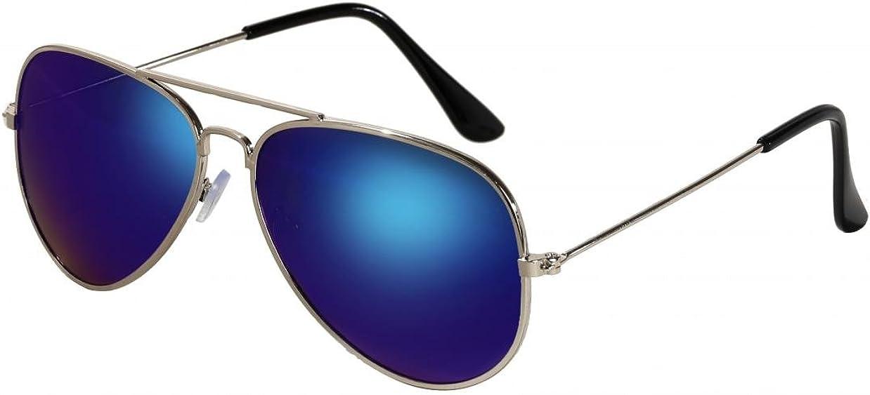WODISON Classic Aviator Sonnenbrille Reflektierende Metall Rahmen f/ür Kinder Kinder Unisex