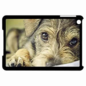 Customized Back Cover Case For iPad Mini Hardshell Case, Black Back Cover Design Dog Personalized Unique Case For iPad Mini