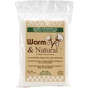 "Warm & Natural Cotton Batting-Crib Size 45""X60"""