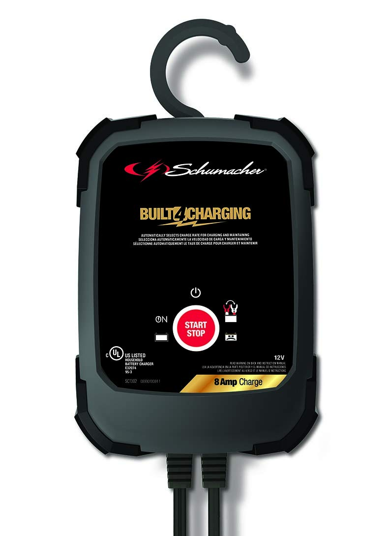Amazon.com: Schumacher SC1302 12V Fully Automatic Battery Charger and 8A Maintainer: Automotive