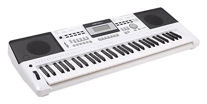 Medeli A100 - Teclado Electrónico Portátil, 61 Teclas Sensibles, USB Midi, Pantalla LCD