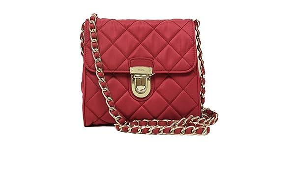 085812bd90a174 Prada BP0623 Hot Pink Tessuto Impuntu Pattina Nylon and Leather Chain  Crossbody Bag: Handbags: Amazon.com