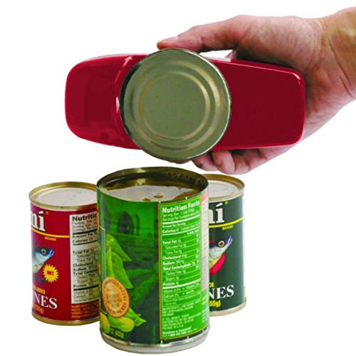 Can Opener Red Automatic One Touch Hands Free Easy To Use