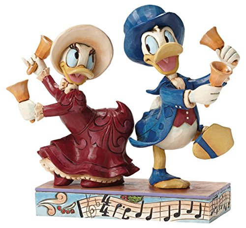 (Enesco Jim Shore Disney Chiming In Victorian Donald and Daisy Duck Figurine 4051977 New)
