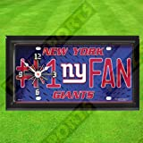 NEW YORK GIANTS WALL CLOCK - BY TAGZ SPORTS