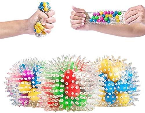 Stressbal set 3 stuks Stress Relief Balls Toys Fidget Sensory Toys Knijpballen Stress Relief Ballen Siliconen Zintuiglijke Knijpballen voor kinderen en volwassenen