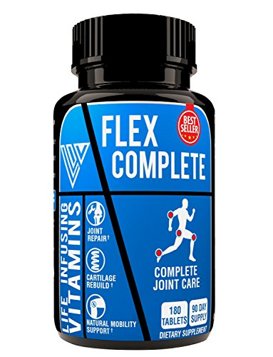 al Joint Pain Relief & Repair, Knee Pain Relief, Cartilage Rebuild, Scientifically proven Formula contains Glucosamine Chondroitin MSM Broswellia and Collagen, Made in USA (Max Flex Glucosamine)