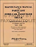 COMPLETE UNABRIDGED 1941 1942 1946 1947 1948 FORD MILITARY CAR & TRUCK REPAIR SHOP & SERVICE MANUAL & PARTS LIST - F-Series, 21 A Deluxe, 2 GA Special, Super Deluxe, Deluxe, Pickup, 11 A, 1 GA