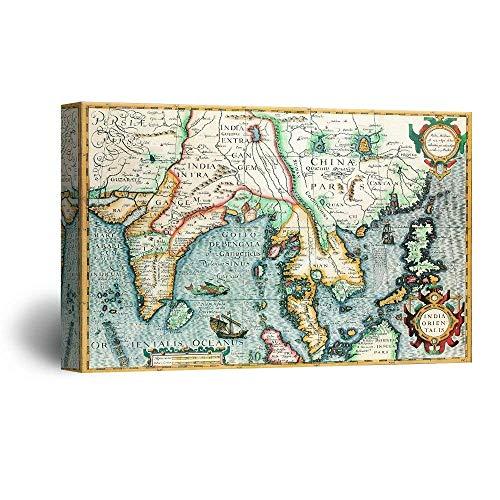 Vintage World Map of The Eastern Hemisphere