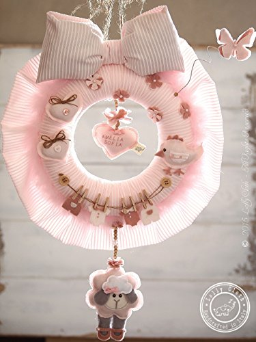 Personalized Baby Wreath, Baby Hospital Door Hanger Girl, Baby Girl Nursery Decor, Baby Shower Door Decoration, 2-DAY FEDEX DELIVERY to USA, Canada, Europe & Others1