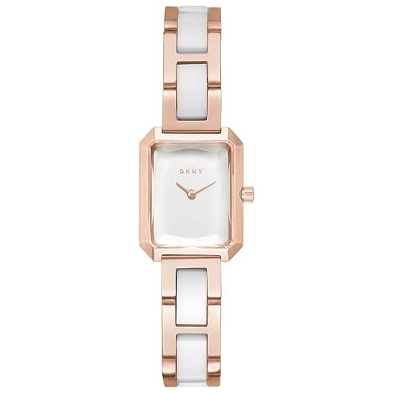 DKNY Reloj Analógico para Mujer de Cuarzo con Correa en Acero Inoxidable NY2671: Amazon.es: Relojes