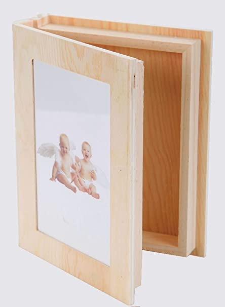 E-line Estuche/Caja Libro Fotos, de Encaje, para Decoupage – de Madera: Amazon.es: Hogar