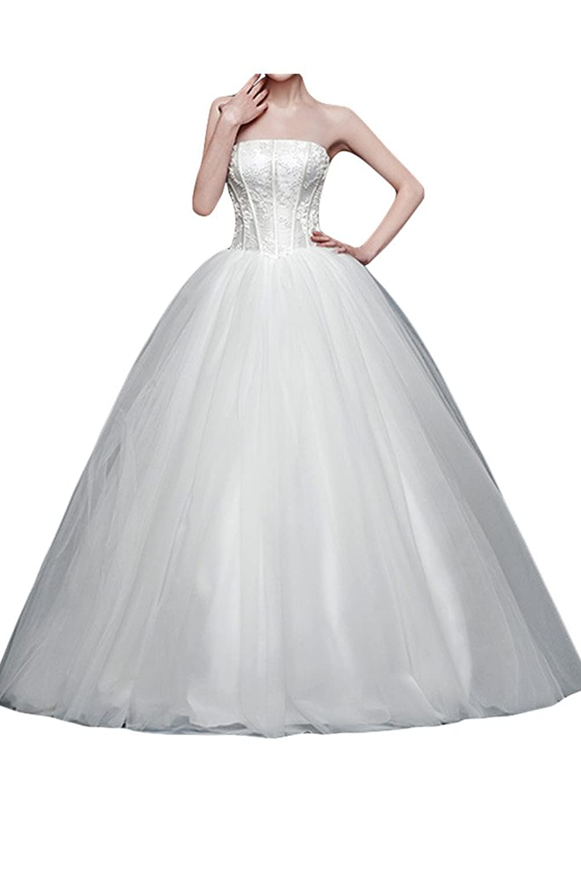 Victory Bridal 2015 Neu Elegant Hochzeitskleider Traegerlos ...