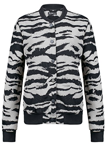 Wantdo Women's Varsity Bomber Jacket With Baseball Collar(Grey,Small)