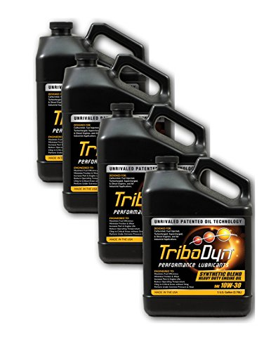 TriboDyn Case 10W30 Syn Blend Heavy Duty Engine Oil - 4 Gallon Case - Lowers Operating Temps, Increases Fuel Mileage, Increases ()
