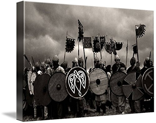 Weapons Viking Warriors (Wall Art Print entitled Vikings! by Kira Hagen | 48 x 32)