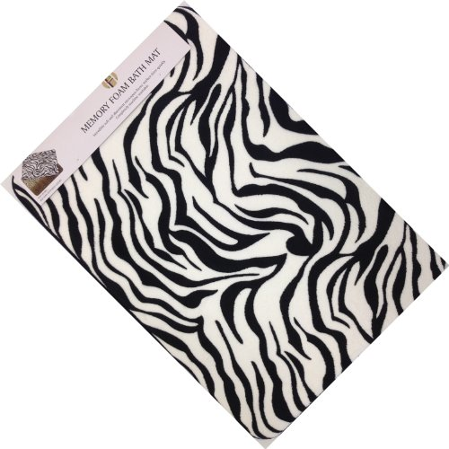 - Incredibly Soft and Absorbent Memory Foam Bath Mat (Zebra, 20x30) by AHF