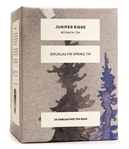 Juniper Ridge Tea Bag | Douglas Fir Spring Tip Teas | Caffeine Free | Wild Harvested | 20 Unbleached Tea Bags