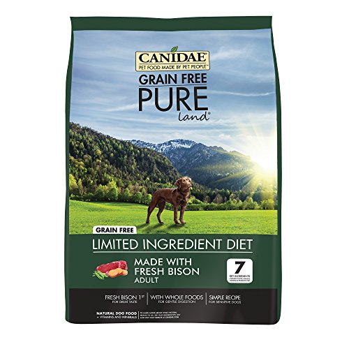 CANIDAE Grain Free PURE Land Dog Dry Formula with Fresh Bison, 24 lbs
