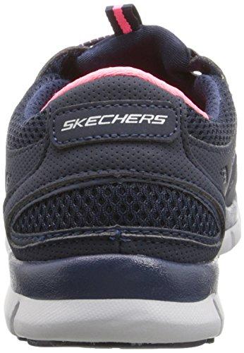 Skechers Sport Damen Gratis Bungee Fashion Sneaker Navy / Pink