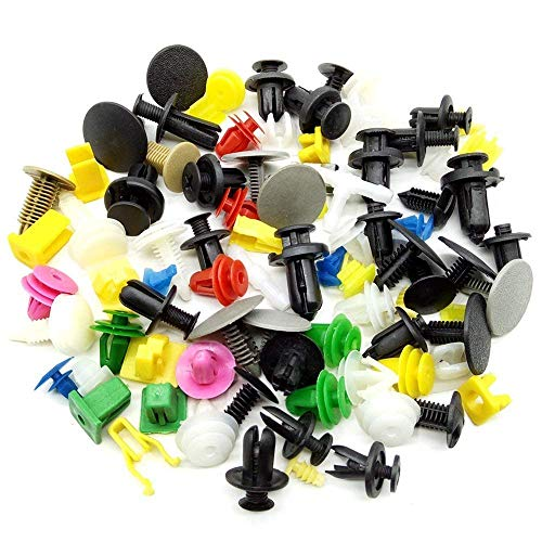 (CNIKESIN 440Pcs Universal Car Clips and Fasteners Door Trim Panel Bumper Clips Pushpin Rivet Trim Clip Panel Body Interior Clips Assortment)