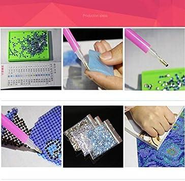 GAOqi ART Plein Carr/é//Tour Dry Diamant Peinture 5D Diamant Broderie M/échant Femmes Diamant Mosa/ïque Home Decor Cadeau-Round 30x40cm