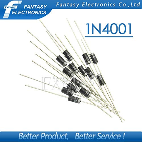 100PCS Rectifier Diode IN4001 1A 50V DO-41 1N4001 700828691359