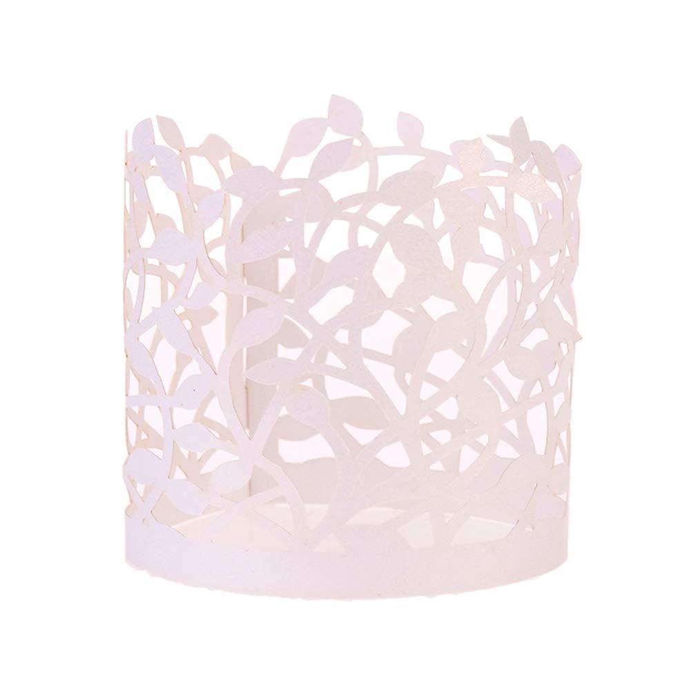DECARETA Candle Wraps 48 Pcs Flameless Tea Light Votive Ideal for LED...