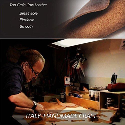 VIDNEG Handmade Briefcase Top Grain Leather Laptop Bag Messenger Shoulder Bag for Business Office 15 inch Macbook (CP-Light Brown) by VIDENG (Image #5)