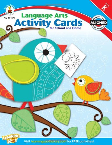 Language Arts Activity Cards for School and Home, Grade K pdf