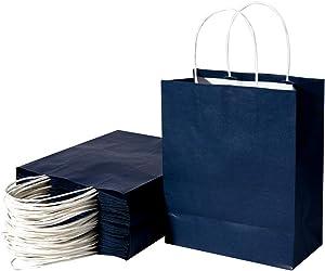 Paper Gift Bags,Kraft Paper Shopping Bags,Party Bags,Merchandise Bag, Kraft Bags, Retail Bags,Paper Bags with Handles 50Pcs/200Pcs