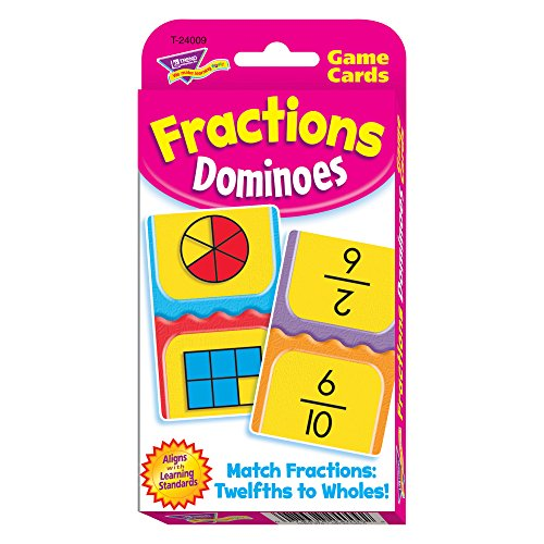 Game Learning Card Fractions - Fractions Dominoes Challenge Cards