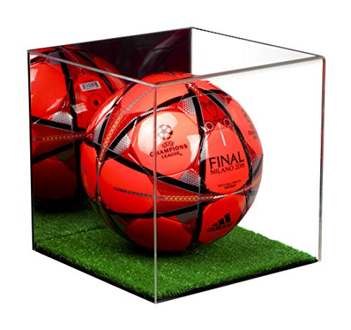 (Better Display Cases (A007-MTB Full Size Soccer Ball Display Case with Mirror and Turf Floor)