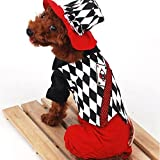 Pink Lizard Halloween Magician Style Poker Pattern Strap Pet Dog Clothes