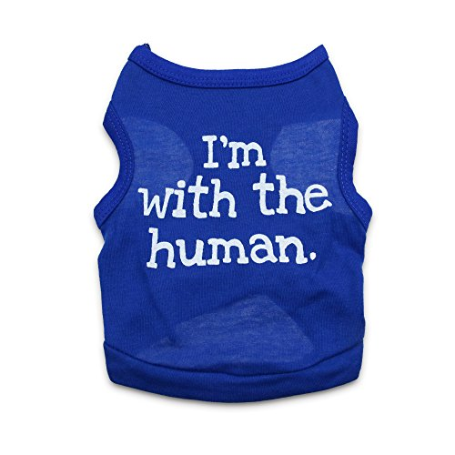 DroolingDog Pet Dog Puppy Tank Top Funny Shirts for Small Dogs Boy, XS