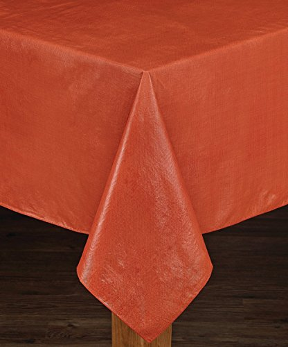 HomeCrate Cafe Deauville Vinyl Tablecloth Soft Flannel Backing, 60
