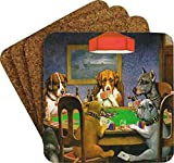 Dogs Playing Poker 1903 C.M.Coolidge Coaster Set