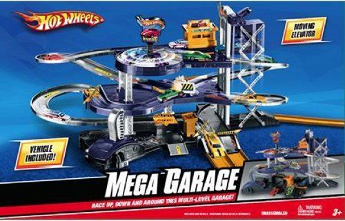 Hot Wheels Mega Garage Multi Level Action Playset With Import It All