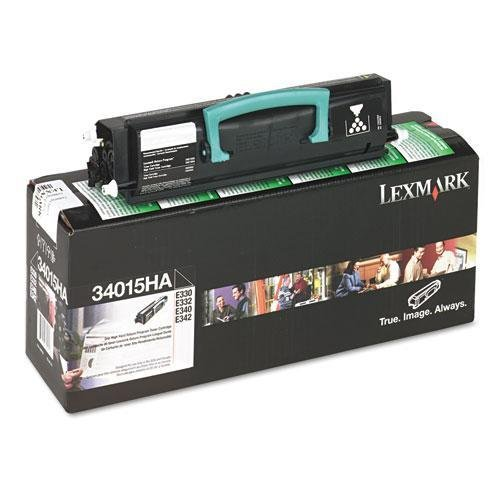 LEXMARK INTERNATIONAL 34015HA 34015HA High-Yield Toner, 6000 Page-Yield, Black