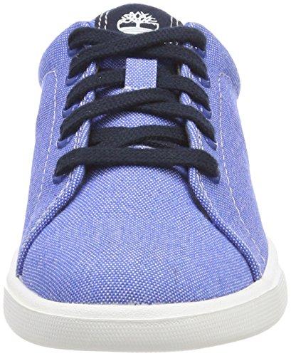 Timberland Groveton Canvas, Zapatos de Cordones Oxford Unisex Niños Azul (Nebulas Blue Canvas With Blue Nights J45)