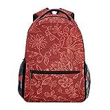 Best OXA Laptop Backpacks - Backpack Red Floral Pattern Womens Laptop Backpacks Hiking Review