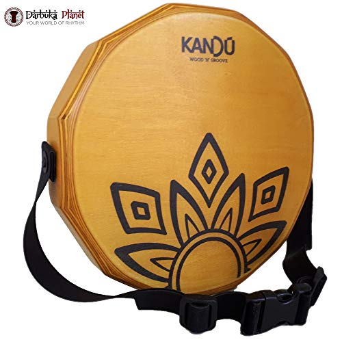 KTÄK -The First Handcrafted, Hand Drum Percussion, Two-Sound Cajón Body Snare, Portable Cajon by Kandu (Sahara Yellow)