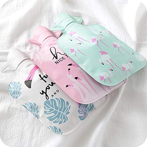 Hacoly Mini Hot Water Bottle Pocket Hot Water Bag Rubber Hottie Water Heating Bag for Pain Relief, Menstrual Cramps, Cold Winter Bed Warming Portable Reusable Therapy Heating Pad-Watermelon by Hacoly (Image #2)