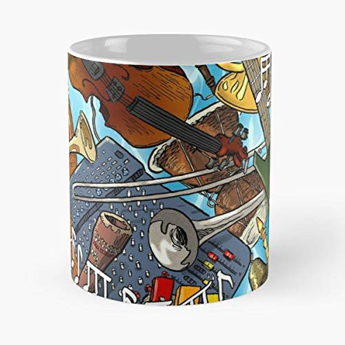 Music Instruments Rock Metal - White -coffee Mug- Unique Birthday Gift-the Best Gift For Holidays- 11 Oz. ()
